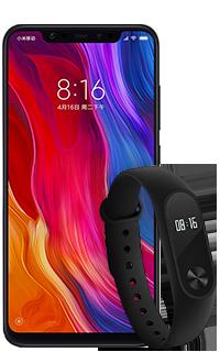 Pachet Xiaomi Mi8 64GB Albastru 4G+ cu Bratara Xiaomi MI Band 2